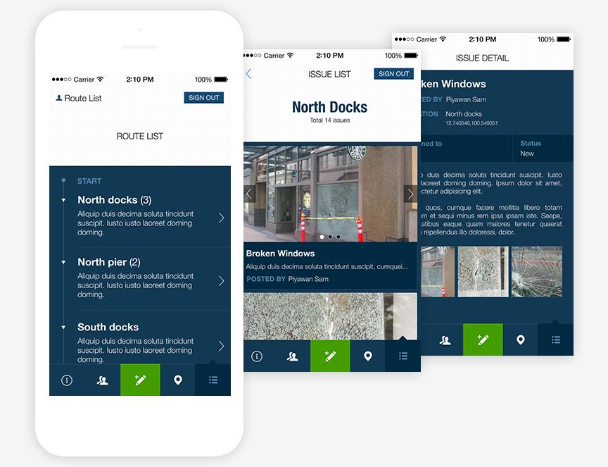 Safety Walks mobile app
